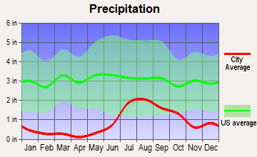 Truth or Consequences, New Mexico average precipitation