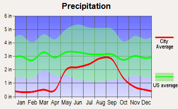 Tatum, New Mexico average precipitation