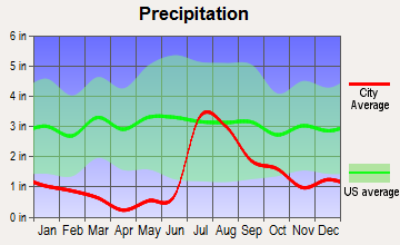 Silver City, New Mexico average precipitation