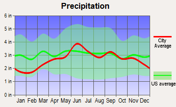 Tuscarora, New York average precipitation