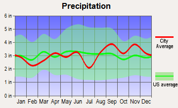 Alexandria Bay, New York average precipitation