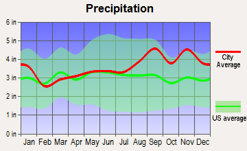 Calcium, New York average precipitation
