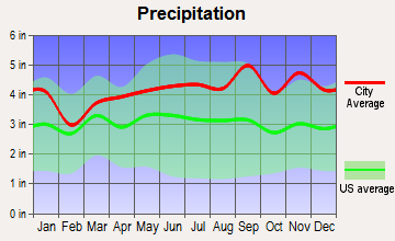 Cleveland, New York average precipitation