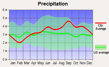Forestville, New York average precipitation
