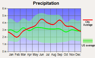Franklinville, New York average precipitation