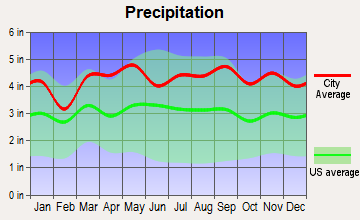 Ossining, New York average precipitation