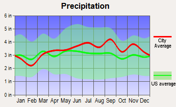 Syracuse, New York average precipitation