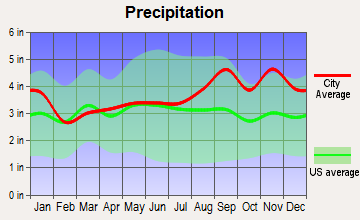 Le Ray, New York average precipitation