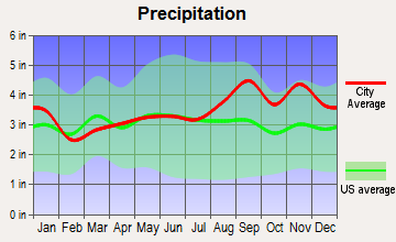 Pamelia, New York average precipitation
