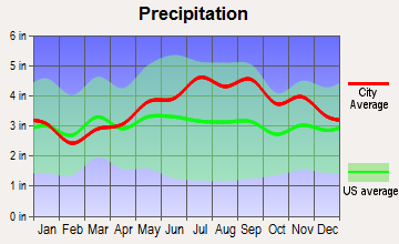 Clifton, New York average precipitation