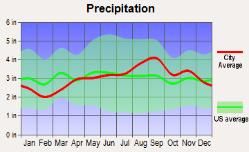 De Kalb, New York average precipitation