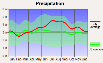 Piercefield, New York average precipitation