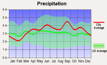 Owasco, New York average precipitation
