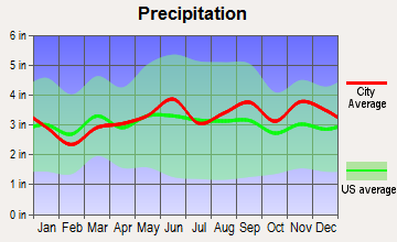 Amherst, New York average precipitation
