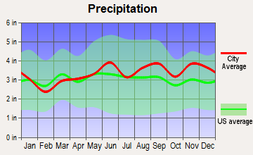 Clarence, New York average precipitation