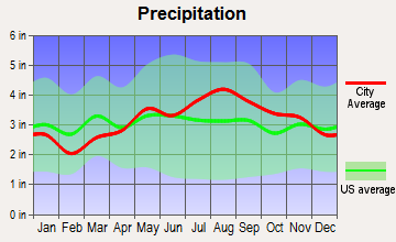 Ticonderoga, New York average precipitation