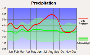 Greenville, North Carolina average precipitation