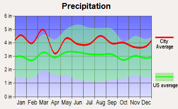 Grover, North Carolina average precipitation