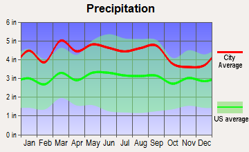 Moravian Falls, North Carolina average precipitation