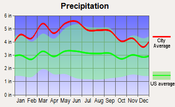 Newland, North Carolina average precipitation