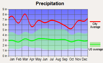 Rosman, North Carolina average precipitation