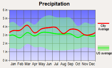 Salisbury, North Carolina average precipitation