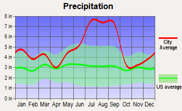 Sandy Creek, North Carolina average precipitation