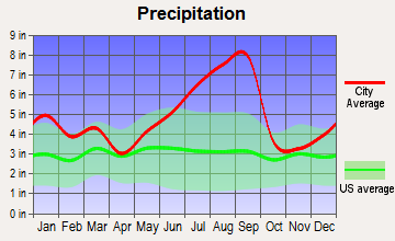 Varnamtown, North Carolina average precipitation