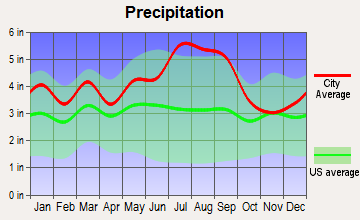 Washington Park, North Carolina average precipitation