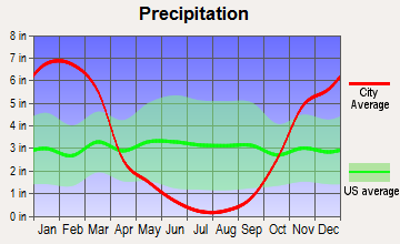 East Quincy, California average precipitation
