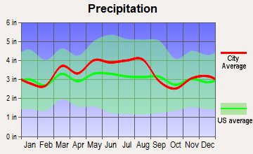 Beaver, Ohio average precipitation