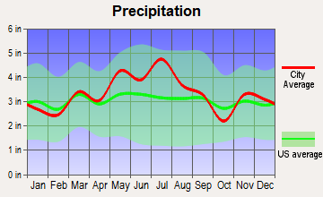 Bellaire, Ohio average precipitation