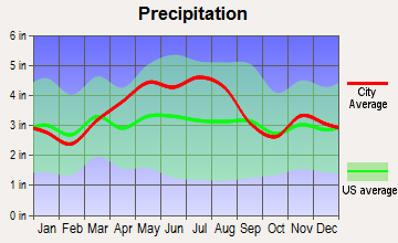 Buckeye Lake, Ohio average precipitation