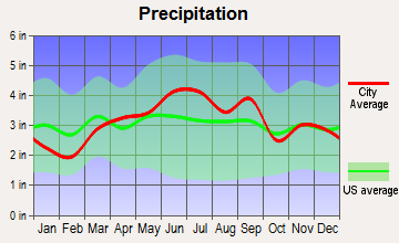 Campbell, Ohio average precipitation
