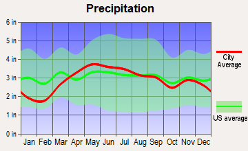 Cecil, Ohio average precipitation