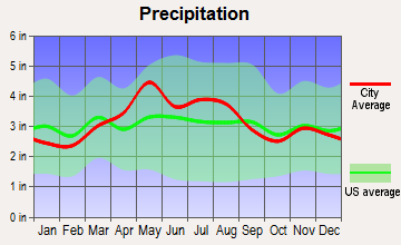Clarksburg, Ohio average precipitation