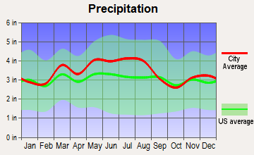 Coalton, Ohio average precipitation