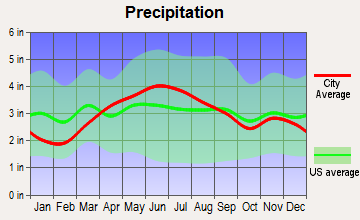 Continental, Ohio average precipitation
