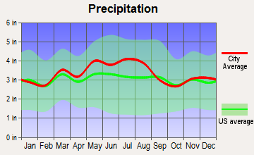 Coolville, Ohio average precipitation