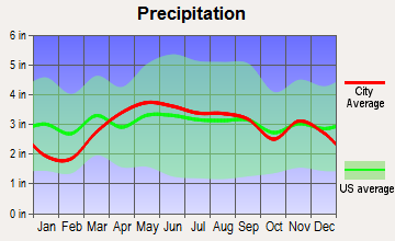 Hicksville, Ohio average precipitation