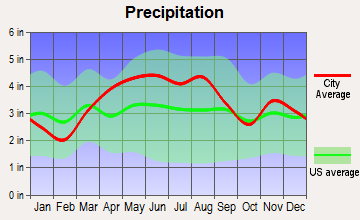 Mansfield, Ohio average precipitation