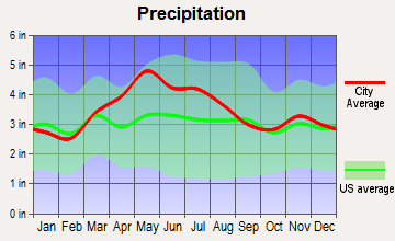 Martinsville, Ohio average precipitation