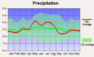 Murray City, Ohio average precipitation