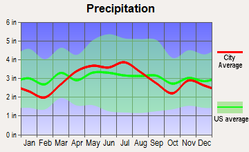 Ridgeway, Ohio average precipitation