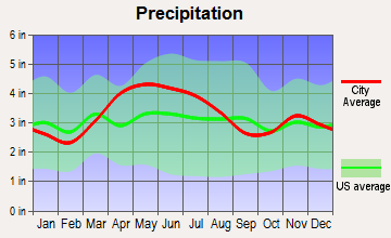 Riverside, Ohio average precipitation
