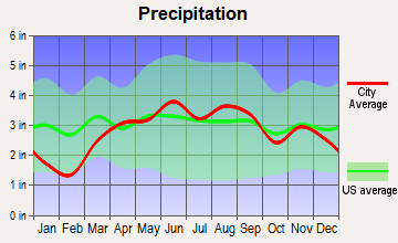Rocky Ridge, Ohio average precipitation