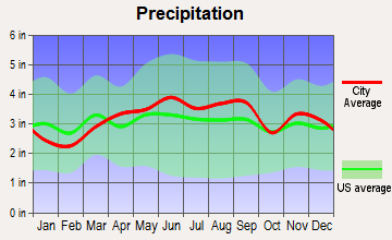Rocky River, Ohio average precipitation