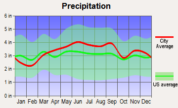 Walton Hills, Ohio average precipitation
