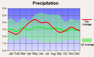West Carrollton City, Ohio average precipitation