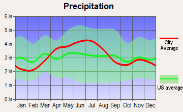 Yorkshire, Ohio average precipitation